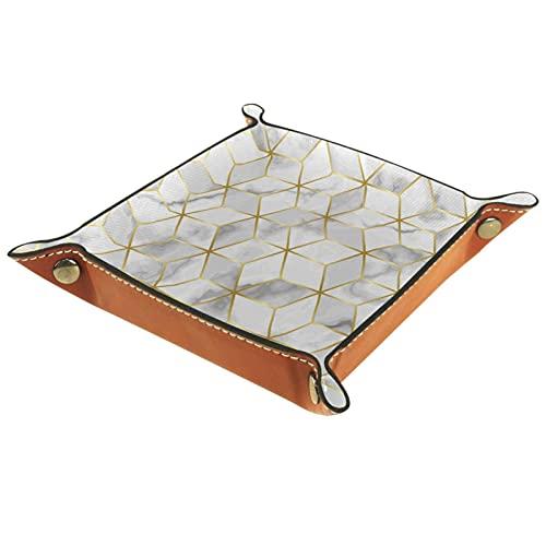 Valet Tray Catchall Tray Schreibtisch Organizer für Herren Damen Schlüsselablage für Tischmünzenreinigung Luxus-Marmor-Mosaik-Stern-Fliesen-nahtlos für Büro zu Hause
