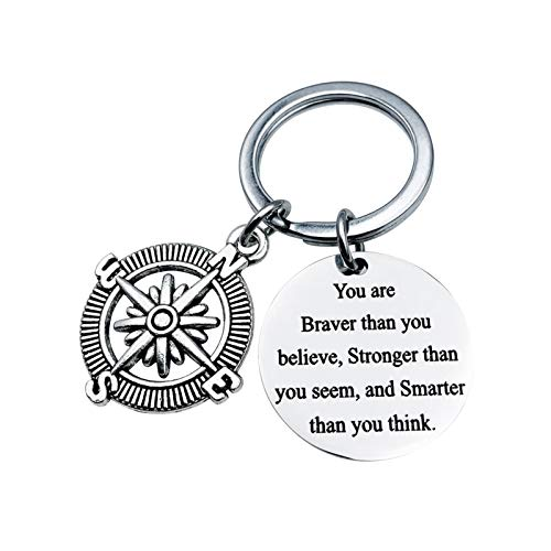Malinmay Christmas Gifts For Boys, Stainless Steel Keychain Tag Engraved 'I couldn`t pick a better son'