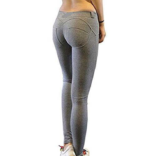 BAINA Ultra Damen Enge Stretch-Hose Push up Hose Stretch Röhrenjeans Slimfit Jeggings Leggings