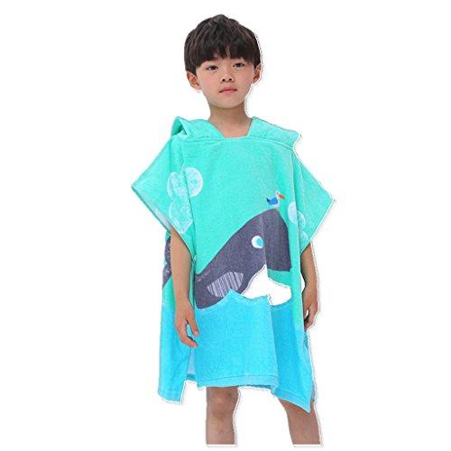 Kinderen poncho strandhanddoek – jongens meisjes 100% katoen baby sneldrogend badjas badjas badjas badjas badjas zwemmen surfant