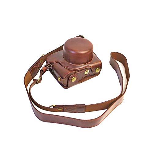 catyrre Camera Pu Ledertasche Anti-Scratch-Schutzhülle Mit Schultergurt Kompatibel Mit Nikon 1 J5 Kamera (Kaffee)