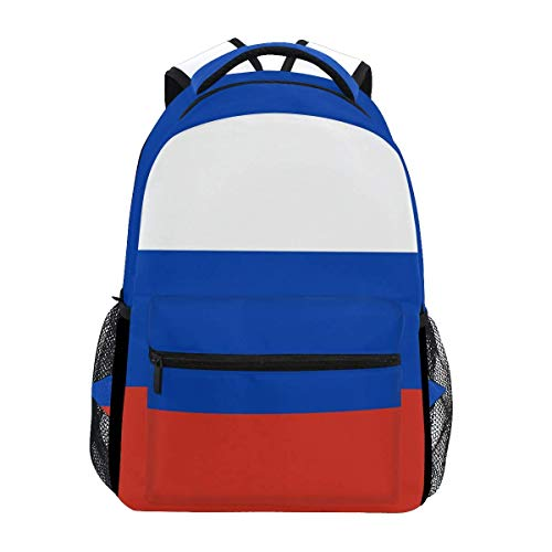 poiuytrew Flag of Russia Backpack Students Shoulder Bags Travel Bag College School Backpacks