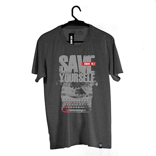 Camiseta Save Yourself, Resident Evil, Masculino, Cinza, 2G