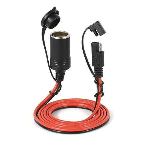 Jtron SAE-naar-SAE-verbindingsstuk verlengkabel 6.5TF lange high-performance 14AWG kabelboom gelijkstroomkabel SAE kabelsnelverbinding- / scheidingssnelsluiting, voor motorauto's SAE zu Zigarettenanzünder
