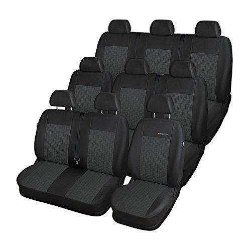 Elegance (E1) (Cucito su Misura) - Set coprisedili Auto (9-posti) - sedili Anteriori: Diviso - 5902311269327