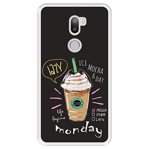 Hapdey Custodia per [ Xiaomi Mi5s Plus - Mi 5s Plus ] Disegni [ Moka, la Vita Inizia lunedì ] Cover Guscio in Silicone Flessibile Transparente TPU