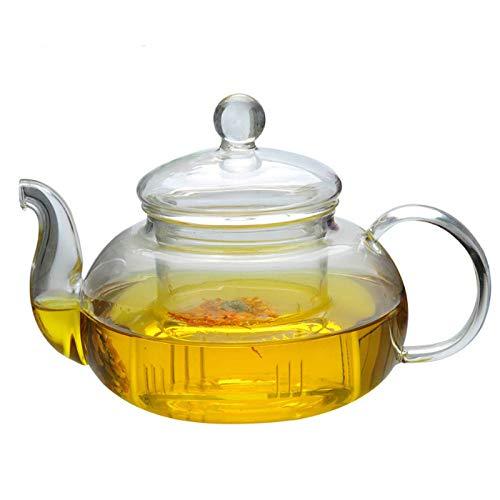 800ml hittebestendige glazen theepot dubbele muur glas theekopje heldere thee pot Infuser Qolong theeketel thee verschillende smaken
