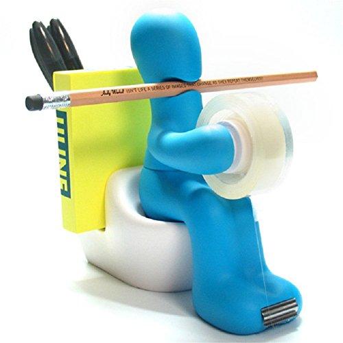 ODN Bandspender Kreativ Der Butt Bürobedarf-Station Schreibtisch Zubehör-Halter (Bleu)