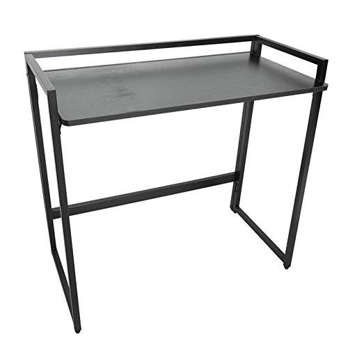 Belleashy Escritorio para ordenador de 80/100 cm, plegable, pequeño escritorio para computadora de escritorio, para trabajo, estudio, escritura, etc. (tamaño: 80 cm, color: negro)