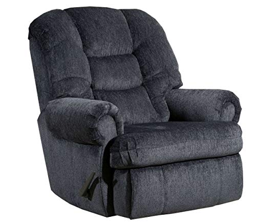 "Lane Stallion (Extra Large) Big Man Comfort King Wallsaver Recliner in Gl. Charcoal. Made for The Big Guy Or Gal. Rated for Up to 500 Lbs. Extended Length. 79"". Seat Width. 25 Inches. 4501XL"