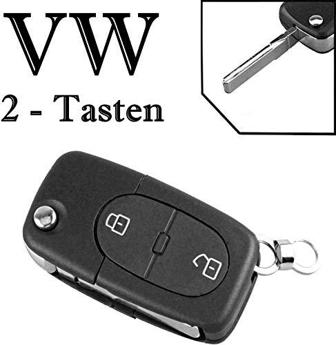 Schlüssel Gehäuse Fernbedienung Klappschlüssel 2 Tasten VWKS24 Golf IV Bora Caddy Jetta New Beetle Passat Sharan