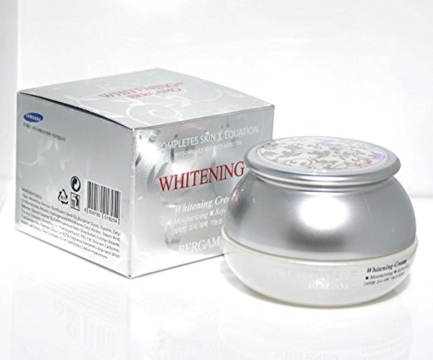 【ベルガモ][Bergamo]  は、高度に精製アルブチンホワイトニング例クリーム50g /  Completes Skin X-equation with Highly Refined Albutin Whitening Ex Cream 50g /  を完了は、皮膚のX-式、さわやか / Whitening,moisturizing,refreshing / 韓国化粧品 / Korean Cosmetics [並行輸入品]