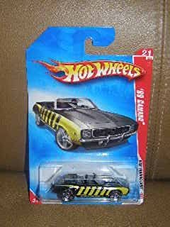 HOT WHEELS WEB TRADING CARDS 69 CAMARO BLACK WITH YELLOW STRIPES 24 OF 24 #097/196