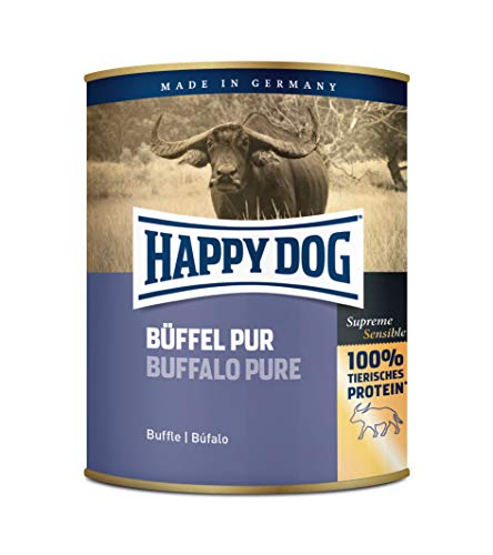 Happy Dog Fleisch Dosen Büffel Pur, 800 g, 6er Pack (6 x 800 g)