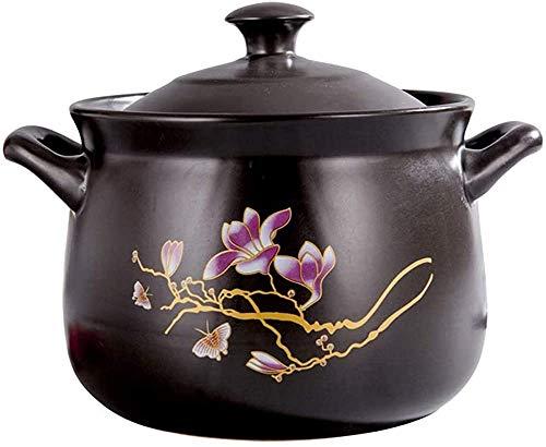zyl Fuente Redonda de cerámica para Hornear con Tapa Utensilios de Cocina Hechos a Mano Cazuela de Barro Utensilios de Cocina de Cebolla Utensilios de Cocina adecuados para Cocina de inducción