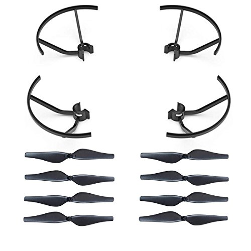 AVAWO Spare Part Accessories Propeller Guards Blades & Propeller Props Protector Set for DJI Tello Quadcopter - Black