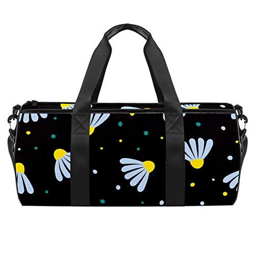 LAZEN Hombro Handy Sports Gym Bags Travel Duffle Totes Bag para hombres Mujeres Patrón de juguete de manzanilla de dibujos animados