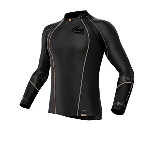 Shock Doctor Herren Tiefschutz Kompressions-Hockey-Shirt, Black, XL