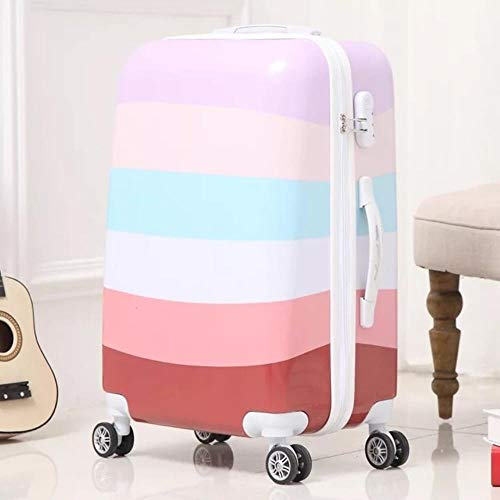 LHSX Rolling Luggage Carry on Travel Suitcase Spinner Wheel Case Trunk Women Suitcase,Style-P,26'