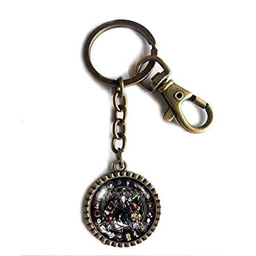 Handmade Cute Gift Symbol Art JEFF THE KILLER Creepypasta CREEPY PASTA TICCI TOBY Key Chain Key Ring Cute Keyring Car The Puppeteer Cosplay