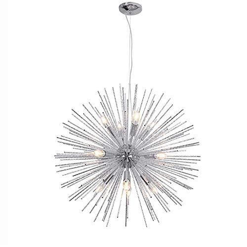 Lampadario da incasso Lampadario Spikes Lampada a sospensione per camera da letto Soggiorno Satellite Starburst Plafoniera Sputnik Fuochi d'artificio Lampada a sospensione Chrome A 12 luci