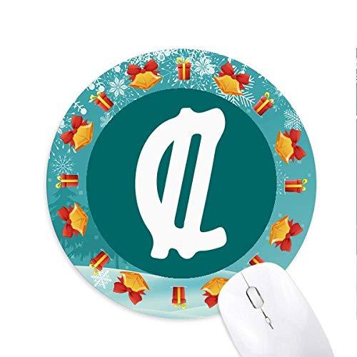 Costa Rica Währungssymbol Colon CRC Mousepad Round Rubber Maus Pad Weihnachtsgeschenk