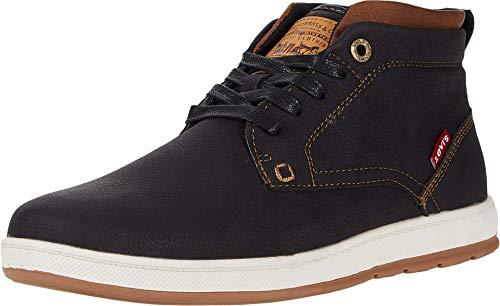 Levi's Mens Goshen II Waxed Casual Sneaker Boot, Black/Tan, 9 M