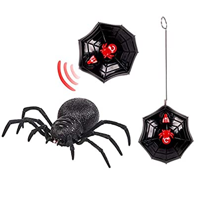 OVERMAL Wireless Remote Control Spider Scary Wolf Spider Robot Realistic Novelty Prank Toys Gifts