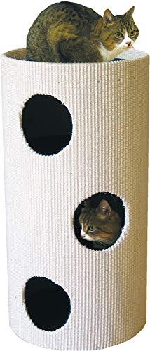 CLEVERCAT Cat Rondo Kratztonne für Ihre Katze, Handgefertigt, Zum Krallenwetzen und verstecken. Made in Germany
