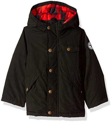 Osh Kosh Boys Little Man 4-in-1 Jacket, Very Black/Buffalo Check, 7