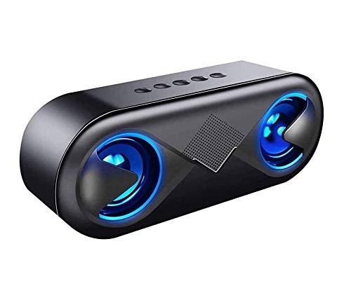 ZOUSHUAIDEDIAN Altavoz portátil Bluetooth, sonido estéreo, sonido envolvente 360 °, tiempo de juego de 10 horas, parejas estéreo inalámbricas, altavoz para el hogar, al aire libre,...