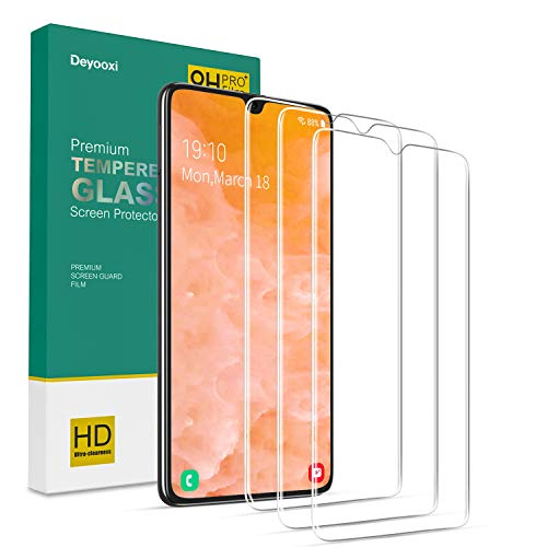 Deyooxi 3 Pezzi Vetro Temperato per Samsung Galaxy A50 / A50S / M30 / M30S / A30 / A30S / A40S/M31/M21,Pellicola Protettiva in Vetro Temperato Screen Protector Film,Protezione Schermo,Anti-graffio