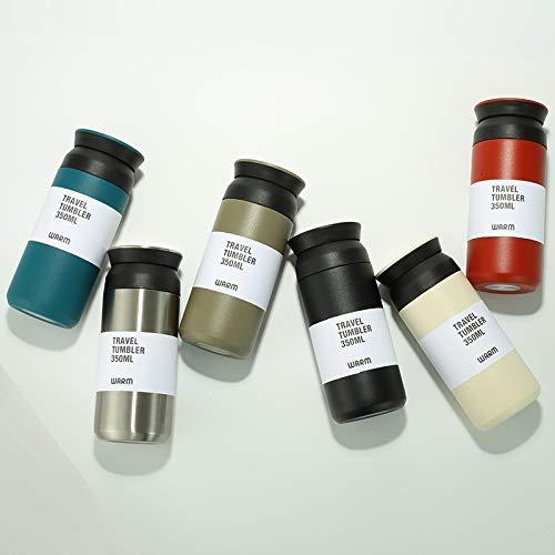 DCGSADFW nieuwe premium reisbeker geschenkverpakking |350ml bewijs van koffie en thee leaks op de sprong | 360 ° | dubbele roestvrijstalen thermos rood