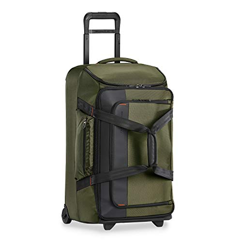 Briggs & Riley ZDX Upright Rolling Duffel Bag, Hunter, Checked-Medium 27-Inch