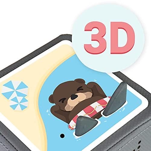 MeinBaby123 Protector de pantalla para caja Toniebox   Cubierta protectora autoadhesiva   Pegatinas   Accesorios para caja Toniebox   Otter 3D
