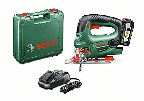 Bosch accudecoupeerzaag PST 18 LI (1 accu, 18V-systeem, in koffer)