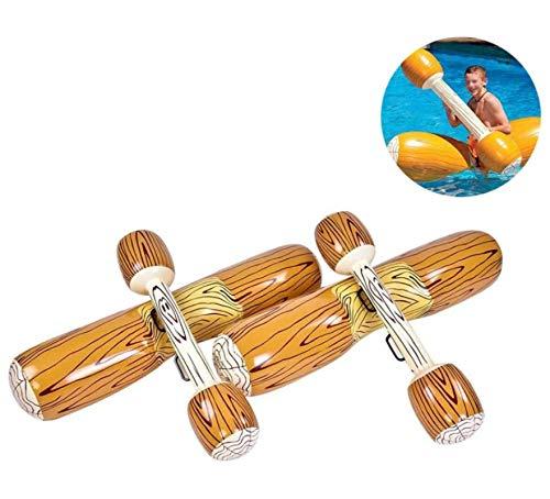 HJQL Juguetes Inflables De Los Deportes Acuáticos De La Canoa, Palillo del Registro De La Nadada del Juego del Barco del Flotador, para Las Piscinas