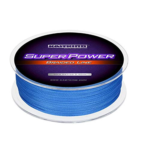 KastKing Superpower Braided Fishing Line,Ocean Blue,20 LB,327 Yds