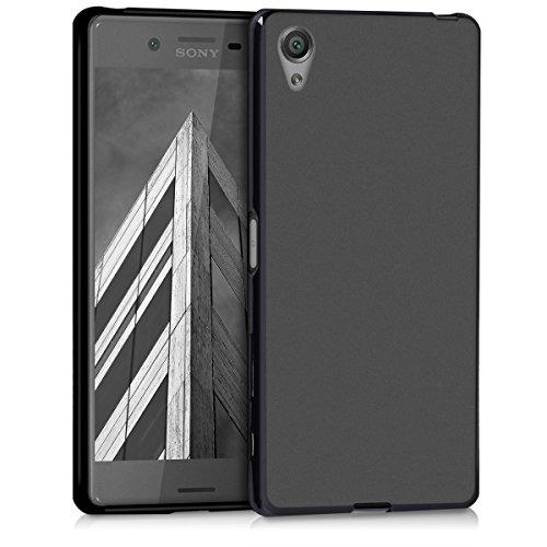 kwmobile Coque Compatible avec Sony Xperia X - Housse de téléphone Protection Souple en Silicone - Noir Mat