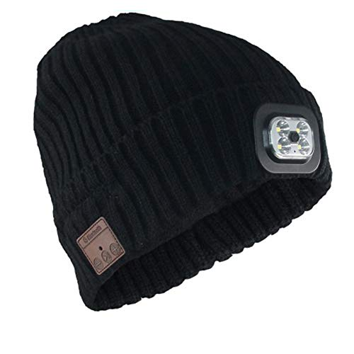 Sombrero con Luces led,Invierno Auriculares Bluetooth Gorra,Bluetooth Beanie Hat con Altavoz Estéreo...