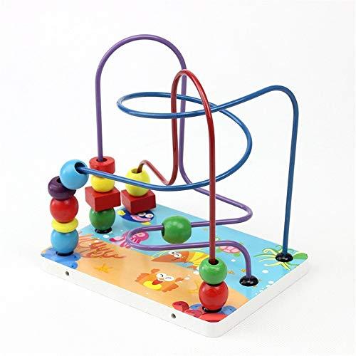 La montaña Rusa de Madera del Grano de Laberinto Bolas de Madera Juego de Laberinto Juguetes educativos, educacionales Abacus Beads Círculo Juguetes Juego de Aprendizaje