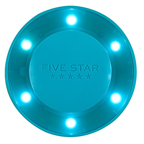 """Five Star Locker Accessories, Locker Light, Push Button Light, Colored LED, Magnetic, 4"""" x 4"""", Teal (73571)"""