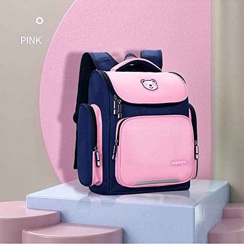 GT-LYD Kid's Backpacks, Children's Backpacks, Spine Protection Backpacks, Large-Capacity Casual Daypacks, Lightweight Backpacks Schoolbags for Boys & Girls,Pink,Large