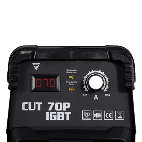 STAHLWERK CUT 70 P IGBT Plasmaschneider mit 70 Ampere, Pilot-Zündung, bis 25 mm Schneidleistung, für Flugrost geeignet, weiß, 7 Jahre Garantie - 3