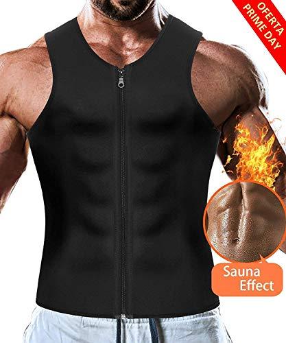 LaLaAreal Faja Reductora Adelgazante Hombre Camiseta Termica Sauna Neopreno para Deport Fiteness