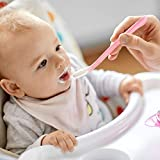 FRIUSATE 8 Stück babylöffel silikon, mehrfarbig Fütterlöffel Baby Fütterlöffel Weiche Fütterlöffel Löffel Baby Bunte Löffel für BPA Frei Säugling Kinder Ab 4 Monate Silikon - 6