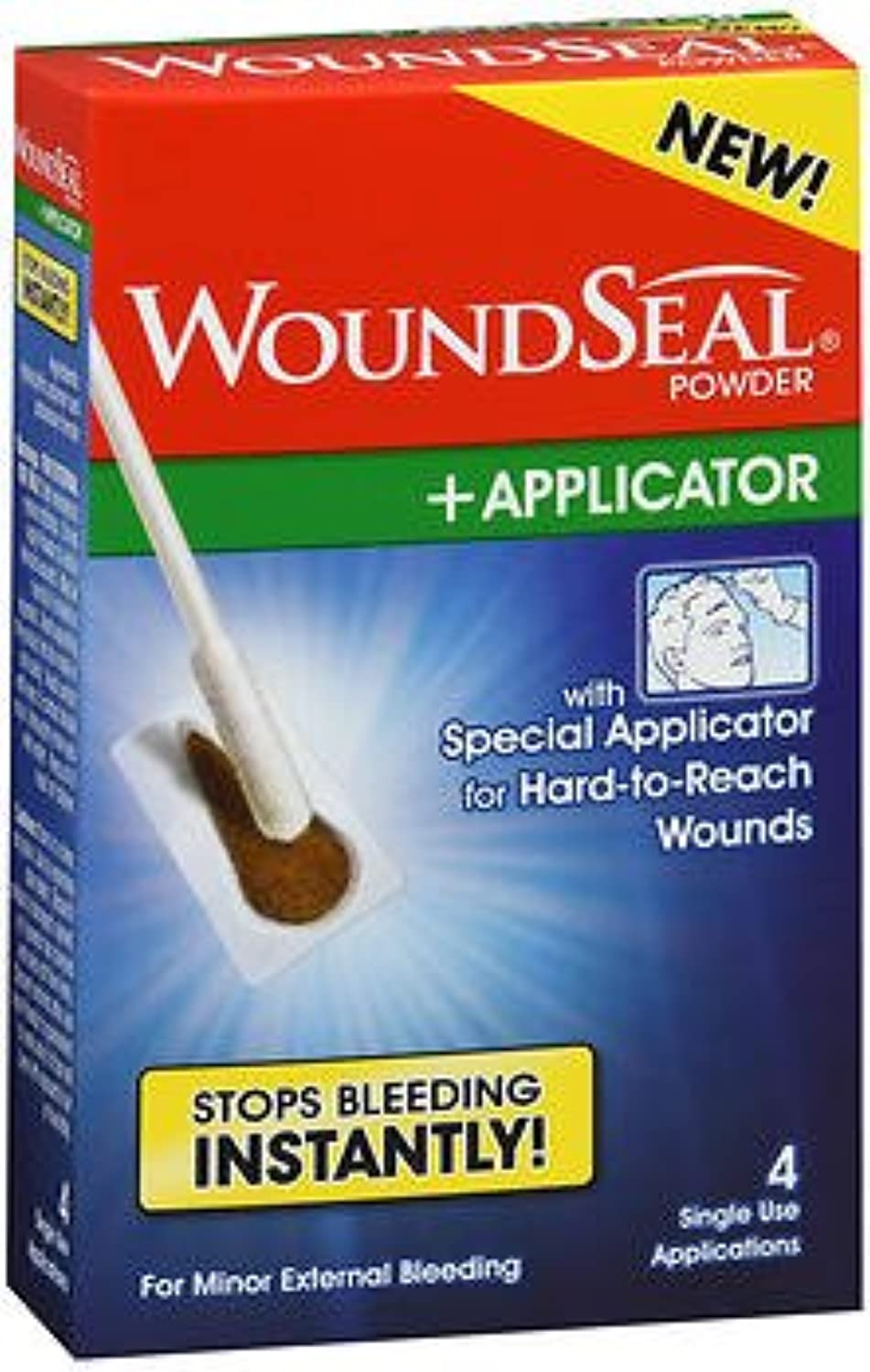 WoundSeal Powder with Applicator 4 single applications, Pack of 4
