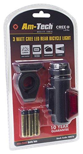 Am-Tech 3 W CREE LED Bike Light arrière, s8076