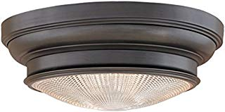 """Hudson Valley Lighting 7516-OB Three Light Flush Mount from The Woodstock Collection, 16"""", Old Bronze"""