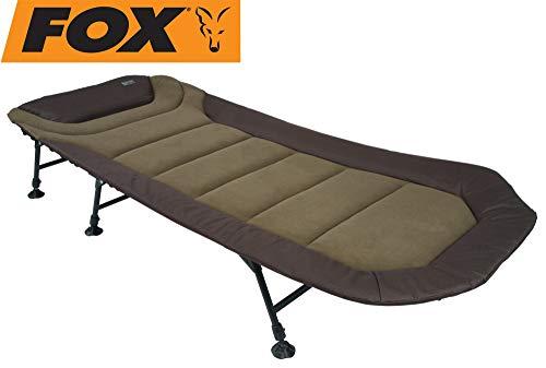 Fox Eos 2 Bed 215x89cm - Karpfenliege zum Angeln, Liege zum Wallerangeln & Karpfenangeln, Angelliege zum Ansitzangeln, Feldbett